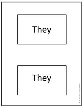 Sight Words for Sentence Building (Kindergarten)