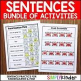 Kindergarten Sentence Practice