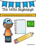 Kindergarten Sentence Practice- The Write Beginnings