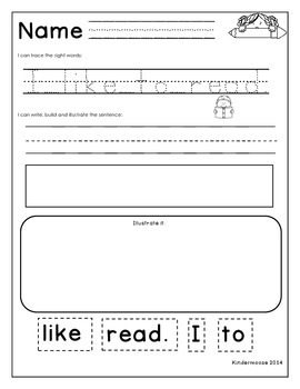 Kindergarten Sentence Practice- The Write Beginnings