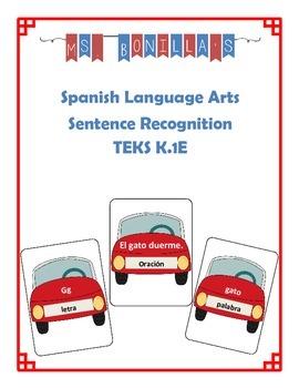 Kindergarten Sentence Recognition in Spanish