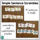 """Simple Sentence Scrambles """"I like..."""" (with color words and adjectives)"""