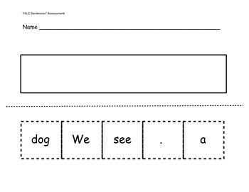 kindergarten sentence struc by happyteaching teachers pay teachers. Black Bedroom Furniture Sets. Home Design Ideas
