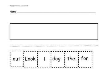 Kindergarten Sentence Structure Assessment