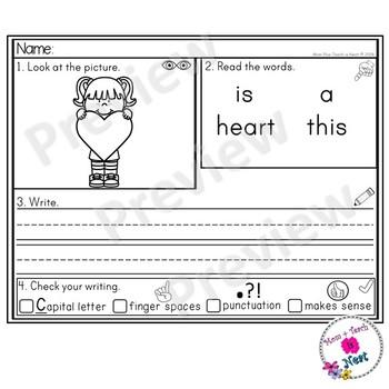 Kindergarten Sentence Structure Writing *Sentence Building- Set 11 2D Shapes