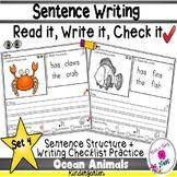 Kindergarten Sentence Structure Writing *Sentence Building