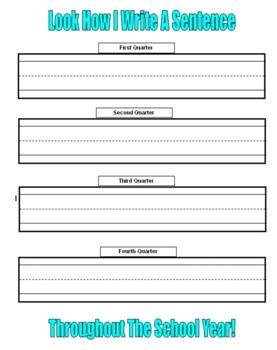 Kindergarten Sentence Writing Assessment