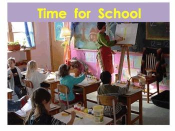 Kindergarten Sentences - an ebook - Time for School