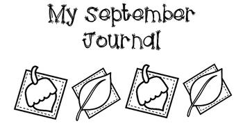 Kindergarten September Journal (Horizontal)