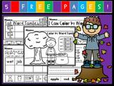 Kindergarten September Language Arts Freebie!  (Common Cor