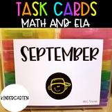Kindergarten September Task Cards