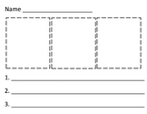 Kindergarten Sequencing Worksheet