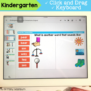 Kindergarten Shades of Meaning and Real Life Connections Digital Activities