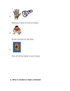 Kindergarten Shadows and Change Assessment
