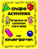 Kindergarten Shape Activities and Games