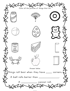 Kindergarten Shape Activities and Games