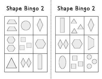 Kindergarten Shape Bingo