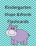 Kindergarten Shape Matching Game Flashcards Multiple Classroom Use