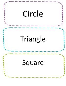 Kindergarten Shape Matching Game Flashcards Multiple Classroom Use