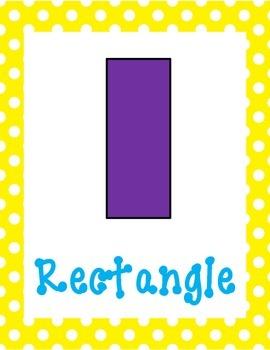 Kindergarten Shape Posters