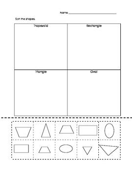 Kindergarten Shape Sorting