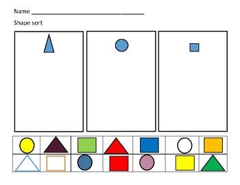 Kindergarten Shape Up