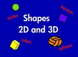 Kindergarten Shapes 2D and 3D Geometry Common Core Based