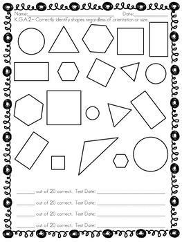 Kindergarten Shapes Assessment (K.G.A.2)