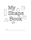 Kindergarten Shapes Color and Word Booklet