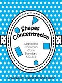 Kindergarten Shapes Concentration Game: K.G.B.4