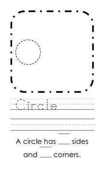 Kindergarten Shapes Vocabulary Book: K.G.A.2, K.G.A.3, and K.G.B.4