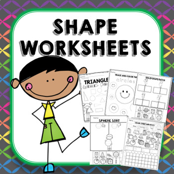 Kindergarten 2d And 3d Shapes Worksheets By Melissa Moran Tpt