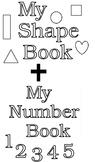 Kindergarten Shapes and Numbers Booklets Bundled
