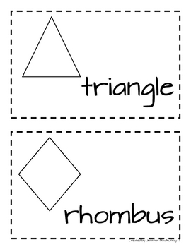 Kindergarten Shapes for the Word Wall