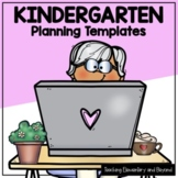 Kindergarten Short Range Planning