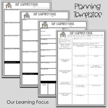 Kindergarten Short Range Planning