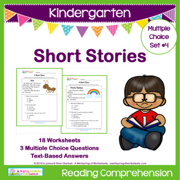 Kindergarten Short Stories by A Wellspring of Worksheets | TpT