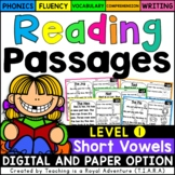 Short Vowel Reading Passages LEVEL 1 - Distance Learning