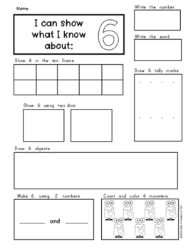 Kindergarten: Show and Make Math Numbers 1-10 Supports Common Core!