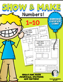 Numbers {Show & Make Math} for Kindergarten 1-10 Set Common Core
