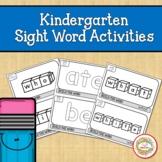 Kindergarten Sight Word Activities | Fine Motor Skills