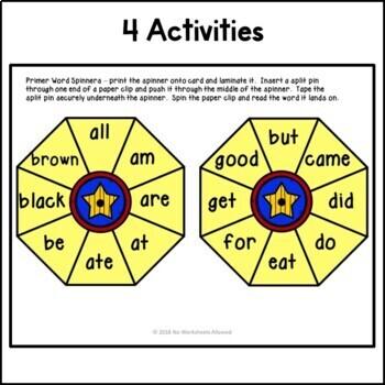 Kindergarten Sight Word Games & Activities - Superhero Theme