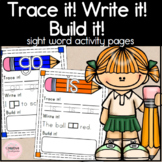Kindergarten Sight Word Activity Pages - Trace it! Write i
