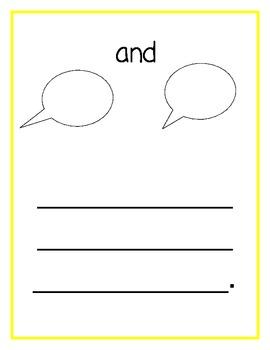 Kindergarten Sight Word Album