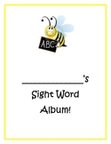 Kindergarten Sight Word Album