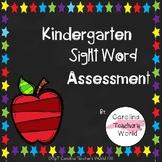 Kindergarten Sight Word Assessment