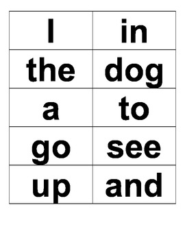 Kindergarten Sight Word Assessment Packet, Arial Font