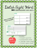 Kindergarten Sight Word Assessment and Data Sheets