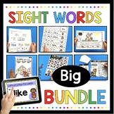 Kindergarten Sight Word BIG BUNDLE - Assessment - Boom Cards - Worksheets