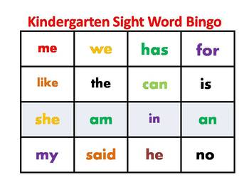 photo about Sight Word Bingo Printable referred to as Kindergarten Sight Term Bingo Worksheets Education